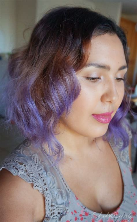 ion color brilliance brights lavender ishah x brown to purple ombre hair using ion color