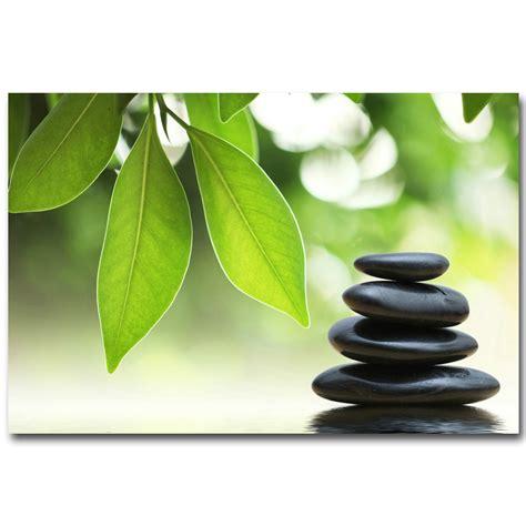 nicoleshenting zen stone  bamboo meditation art silk