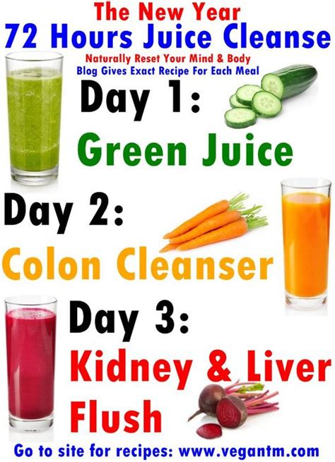 Detox That Works In Hours by The New Year 72 Hours Juice Cleanse Health To Lose