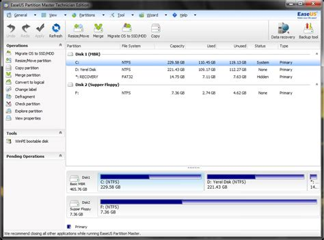 free software easeus partition master home