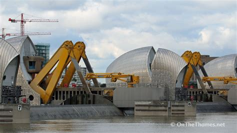 thames barrier up thames barrier is closed for first time this winter due to