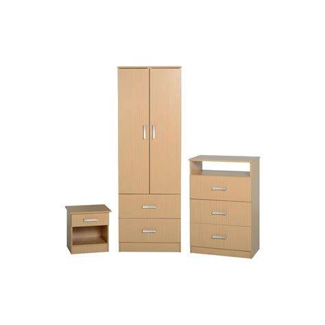Wardrobe Sets Uk by Amazing 3 Wardrobe Set In Beech Finish