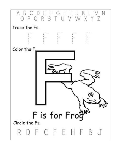 kindergarten activities letter f letter f worksheets for preschool worksheets for all