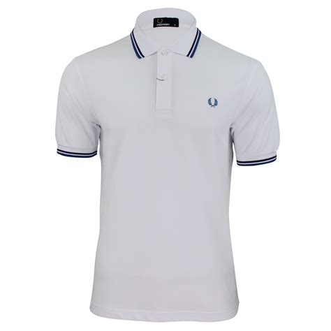 T Shirt Polo Fred Ferry mens fred perry m1200 pique polo t shirt tipped ebay