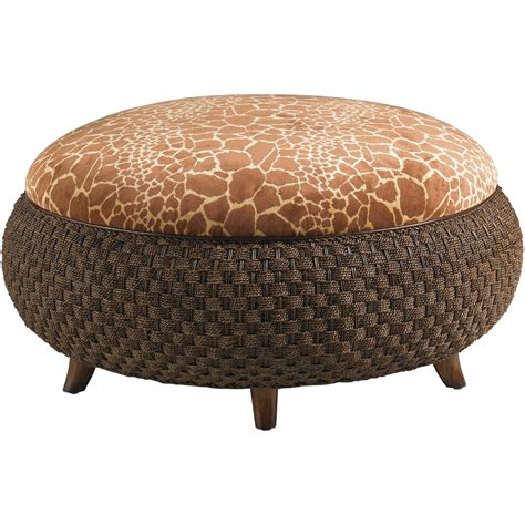 Lexington Lexington Upholstery Round Kenya Cocktail Giraffe Ottoman