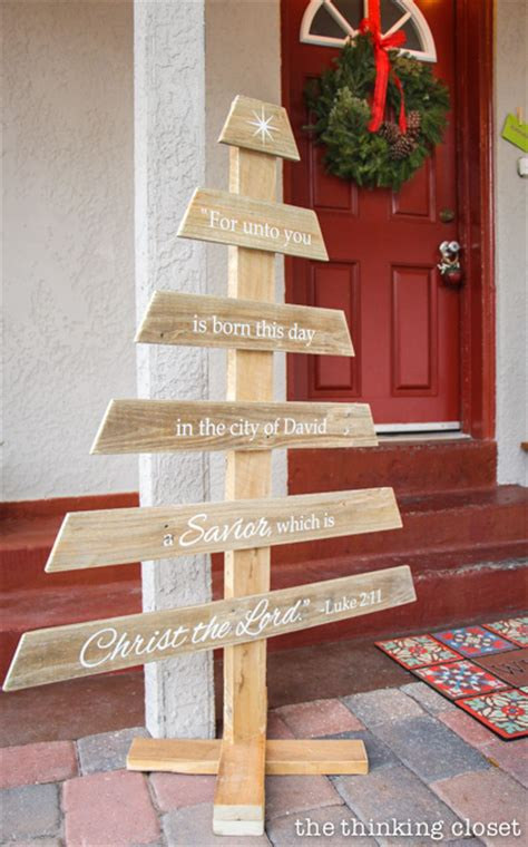christmas tree light pole wood diy rustic pallet tree free silhouette cut file