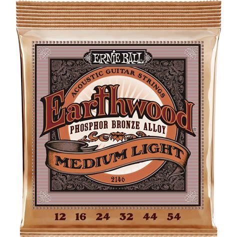 ernie ball earthwood light ernie ball earthwood medium light phosphor bronze p02146 b h
