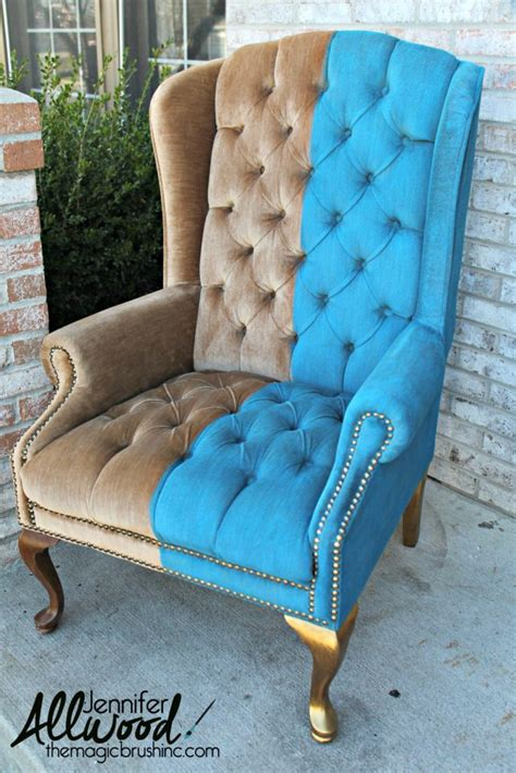 chalk paint velvet chair paint velvet fabric a chair makeover chalk paint
