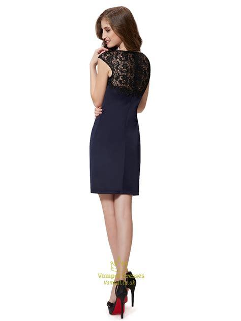 Sleeve Sheath Cocktail Dress navy blue cap sleeves knee length sheath cocktail dress