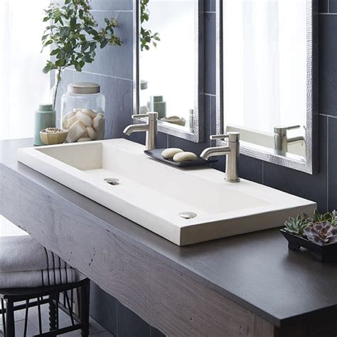 Sinks awesome trough sink bathroom trough sink bathroom double trough sink stones white toples