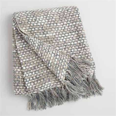 Blanket With Picture Woven In It by Gray Dots Woven Throw World Market