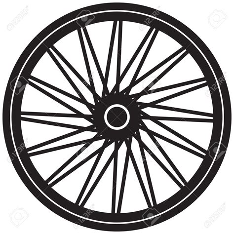 Bicycle Wheel Outline by Hub Of The Wheels Clipart Clipground