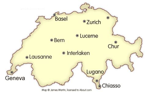 major cities in switzerland map switzerland cities map and travel guide