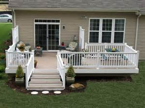 mobile home decks pictures of decks for mobile homes with wood and granite tones