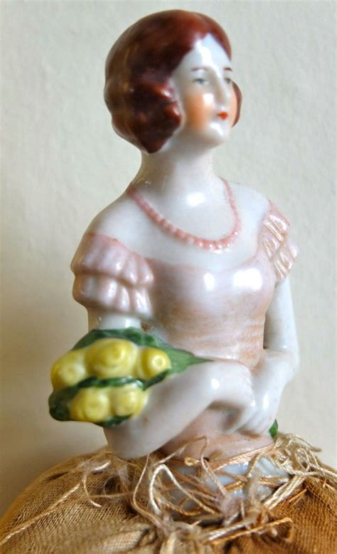 porcelain doll 1920s vintage 1920s 30s porcelain pincushion doll from