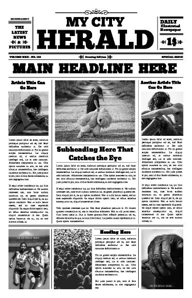 Free Newspaper Templates Print And Digital Makemynewspaper Com Newspaper Advertisement Template