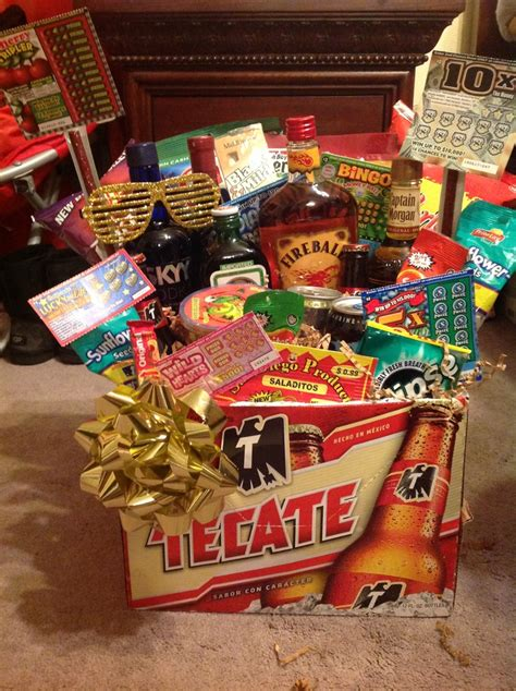 Men's gift basket! Birthday gift. Instead of alcohol get stuff from bass pro shop and sports