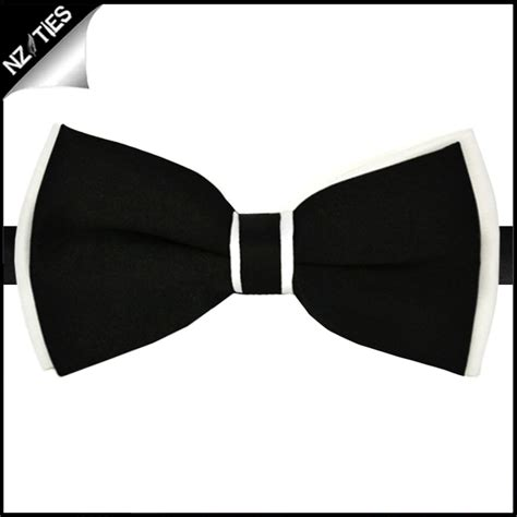 chagne color bow tie black with white trim bow tie nz ties