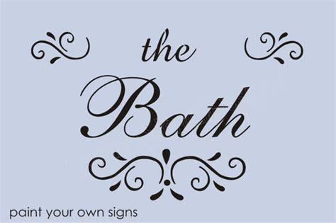 fancy name for bathroom stencil the bath fancy french script font swirl motif