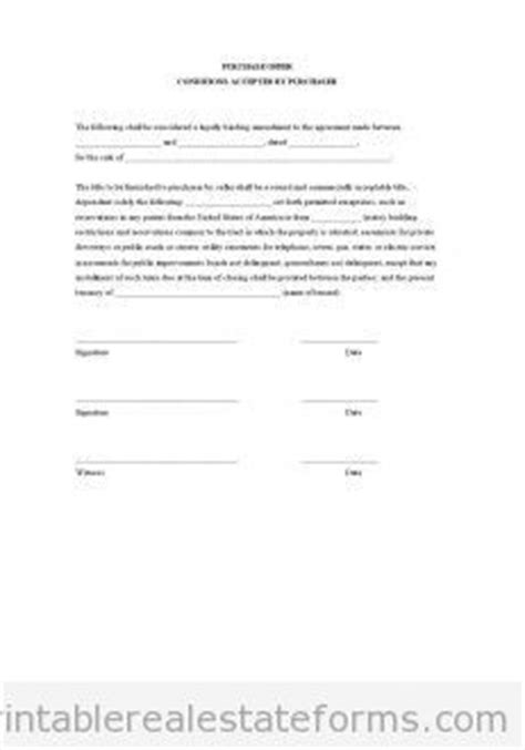 offer to sell template free contract to sell on land contract printable real