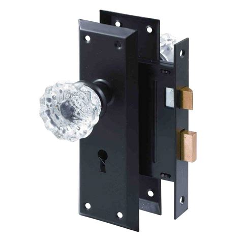 Glass Door Knobs With Lock Prime Line Classic Bronze Mortise Lock Set With Glass Knobs E 2497 The Home Depot