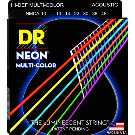 colored bass strings dr strings neon hi def multi color coated electric nmce 10 b h