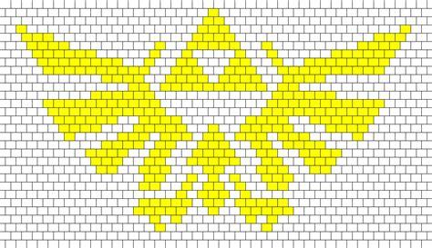 zelda triforce pattern triforce for a panel bead pattern peyote bead patterns