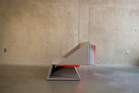 Origami Sofa - origami sofa goes from sleek seat to stylish floor covering