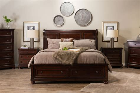 ashley furniture sleigh bed  storage mathis brothers