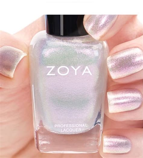 Toner White Zoya Cosmetics Zoya Zp835 Leia Opalescent White Shimmer Nail
