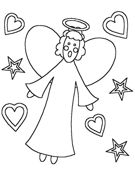 Printable Angels Angel5 Bible Coloring Pages