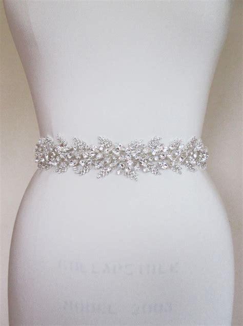 bridal belt sash beaded bridal sash swarovski