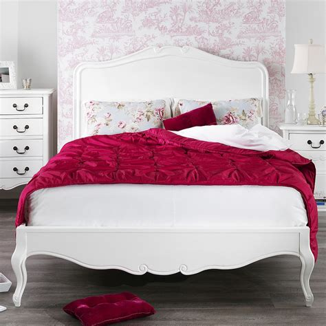 shabby chic white king size bed 5ft bedroom furniture direct
