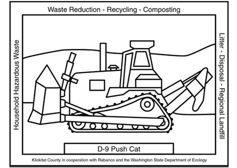 coloring page waste management push cat img  images