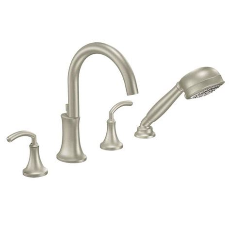 moen icon 2 handle high arc tub faucet includes