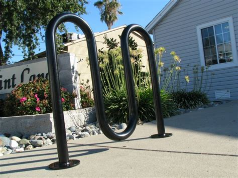 environment protection outdoor wave bike rack