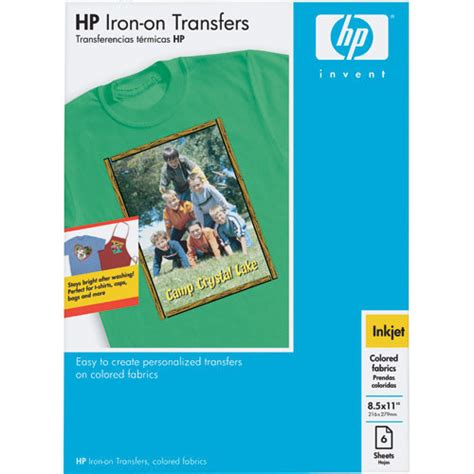 hp printer iron on transfer paper hp iron on transfer paper for color fabrics q1974a b h photo