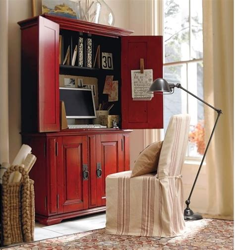 Pottery Barn Computer Armoire Cton Smart Technology Office Armoire Desa Ming Traditional Desks And Hutches By
