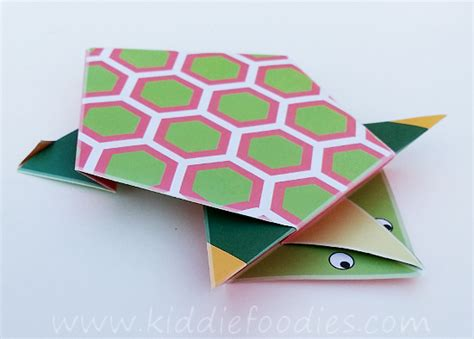Origami Turtle Tutorial - simple origami for how to make a paper turtle