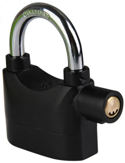 Gembok Alarm gembok alarm motor suara anti maling lock siren black