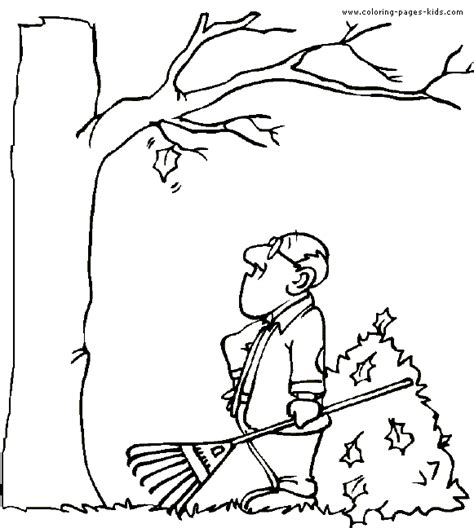 free coloring pages of autumn tree