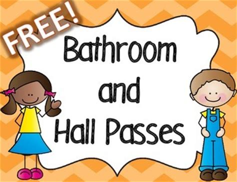 student bathroom passes this colorful set perfect for your classroom includes