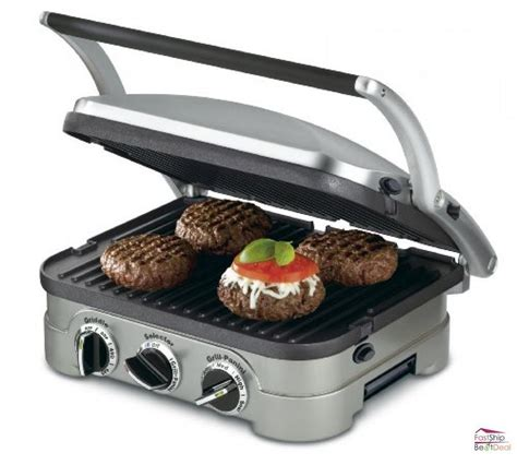 Electric Countertop Grills by Cuisinart 5 In 1 Electric Countertop Griddler Portable