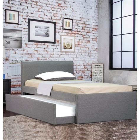 king single bed headboards selina fabric king single bed frame grey w trundle buy