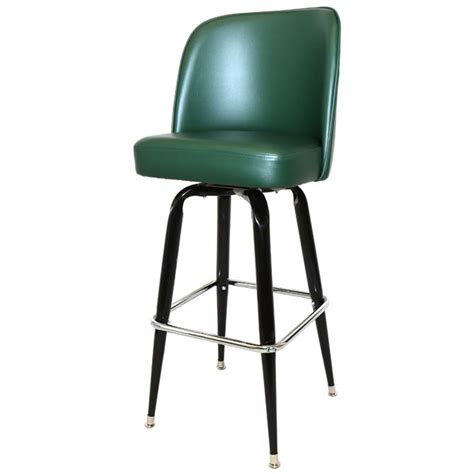 Green Swivel Bar Stools by Single Ring Swivel Bar Stool With Black Base And Green
