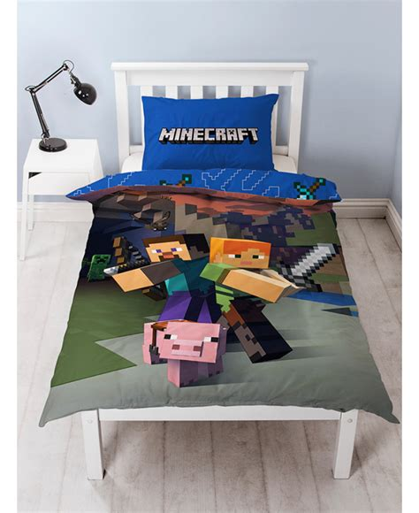 Minecraft Quilt Cover by Minecraft Single Duvet Cover And Pillowcase Set