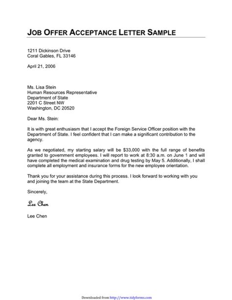 Acceptance Letter Ppt acceptance letter templates free templates in doc