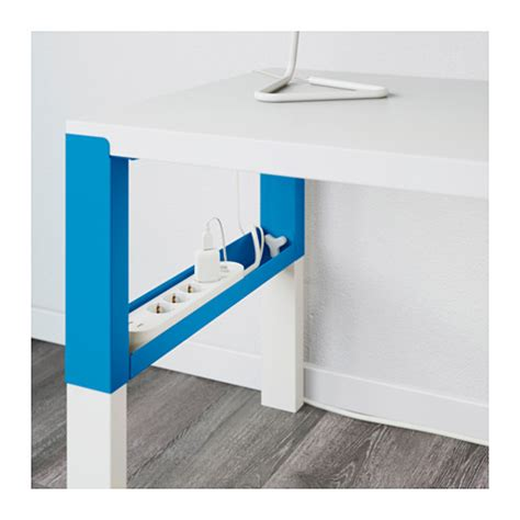 ikea pahl p 197 hl desk with shelf unit white blue 96x58 cm ikea