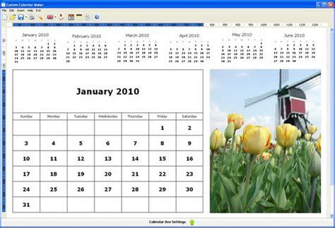 Custom Calendar Maker โปรแกรมสร างปฏ ท น ปร บได ตามต องการ Custom Calendar Maker