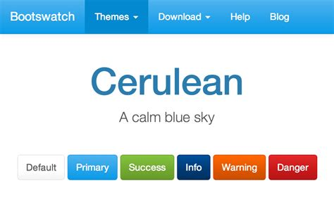 bootstrap themes free blue cerulean theme at bootstrapzero